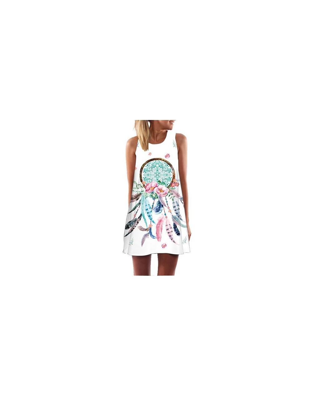 Women Dress 2019 New Arrival Floral Print Short Chiffon Summer Dress Sleeveless Casual Loose Boho Beach Dress sukienki - 352...