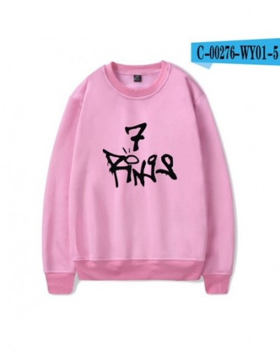 Ariana Grande thank U next Hoodies/O-neck Sweatshirt 2019 New Album Soft Pink/Red Color Unisex Fashion Oversize HighStreet C...