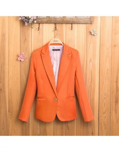Candy-colored Women Suit Long Sleeves Coat 2018 New Fashion Jacket Blazer femme Lined With Striped Single Button Blazers Jac...