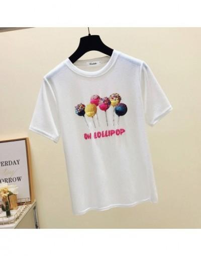 Korea style t shirt women t-shirts summer top tshirt Ice silk t-shirt women tops poleras de mujer moda 2019 tee shirt femme ...
