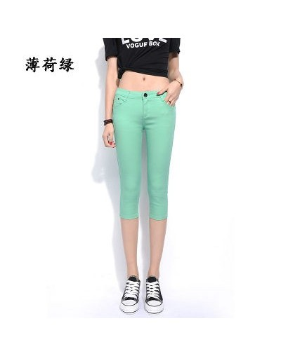Women Summer Pants Stretch Cropped Hot Pants Women Mid Waist Sexy Pencil Pants Trousers Casual Thin Skinny Pants Leggings - ...