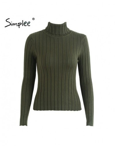 Turtleneck knitting sweater women Casual cotton knitted winter sweater pullover female 2017 Autumn winter jumper - Dark gree...