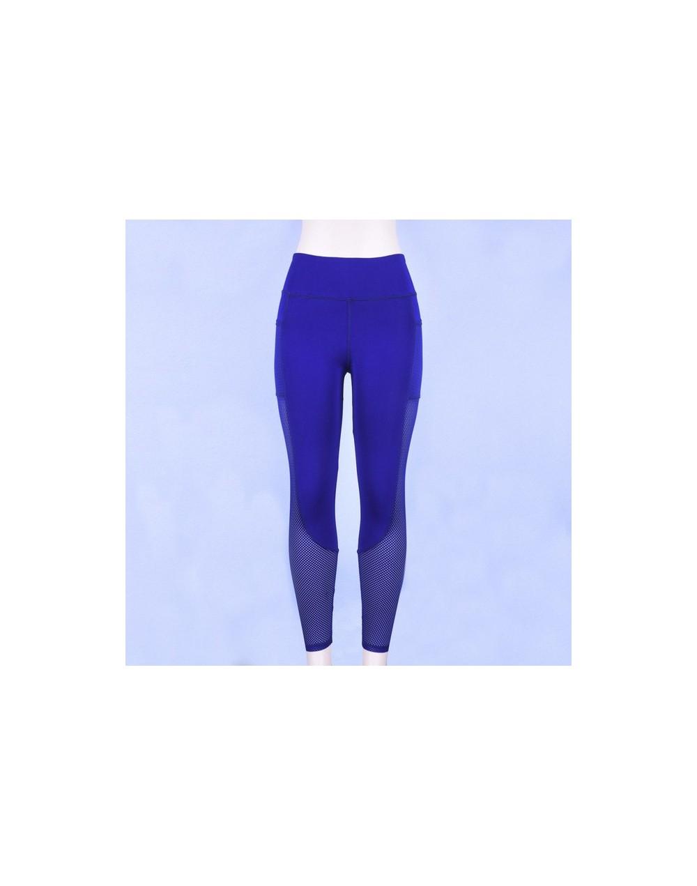 High Waisted Legging Women Legging Solid Pocket Leggings Breathable Feminina Fitness Leggings S-L - Blue - 4O3068561673-2