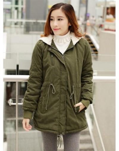 2019 Winter Jacket Women Korean Fleece Parka K-pop Warm Coat Hooded Overcoat Classical Long Hoodies Jacket Green Chaquetas M...