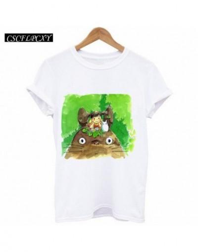 Fashion 2017 Slim T-shirt Women Summer Tops Cartoon Neighbor Totoro Print T Shirt Plus Size Women Clothing Tee Shirt Femme -...
