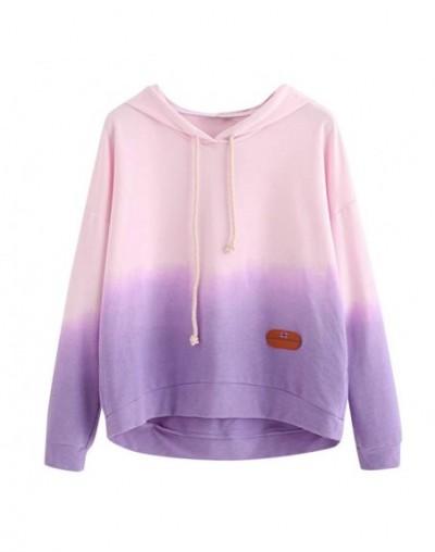 Women's Hoodie Printed Patchwork Sweatshirt Long Sleeve Pullover Tops Blouse Blusas Mujer Camisas Mujer - Pink - 4I3032687490-2