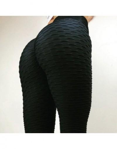 Women Pink High Waist Fitness Leggings Fashion 2018 Female Push Up Black Spandex Pants Workout Leggings Femme Plus Size - Bl...