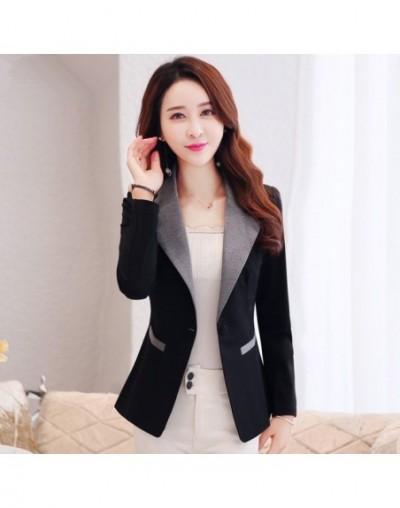 Black Blazer Women Casual Wear Jacket Blazer Feminino Long Sleeve Elegant Short Coat Blaser Feminine Ladies Vogue Tops 3XL C...