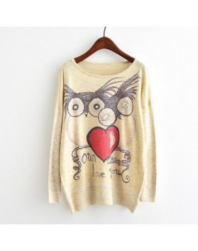 Harajuku Sweater Woman girls student knitting Cartoon unicorn Flowers cat Animal fruit printing Sweater - As picture - 4U394...