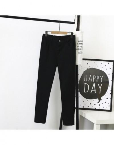 Stretched Casual Pants Women Plus Size 3 4 5 XL Slim Skinny Pencil Pants White Black Trousers SWM822 - Black - 4D3972896754-1