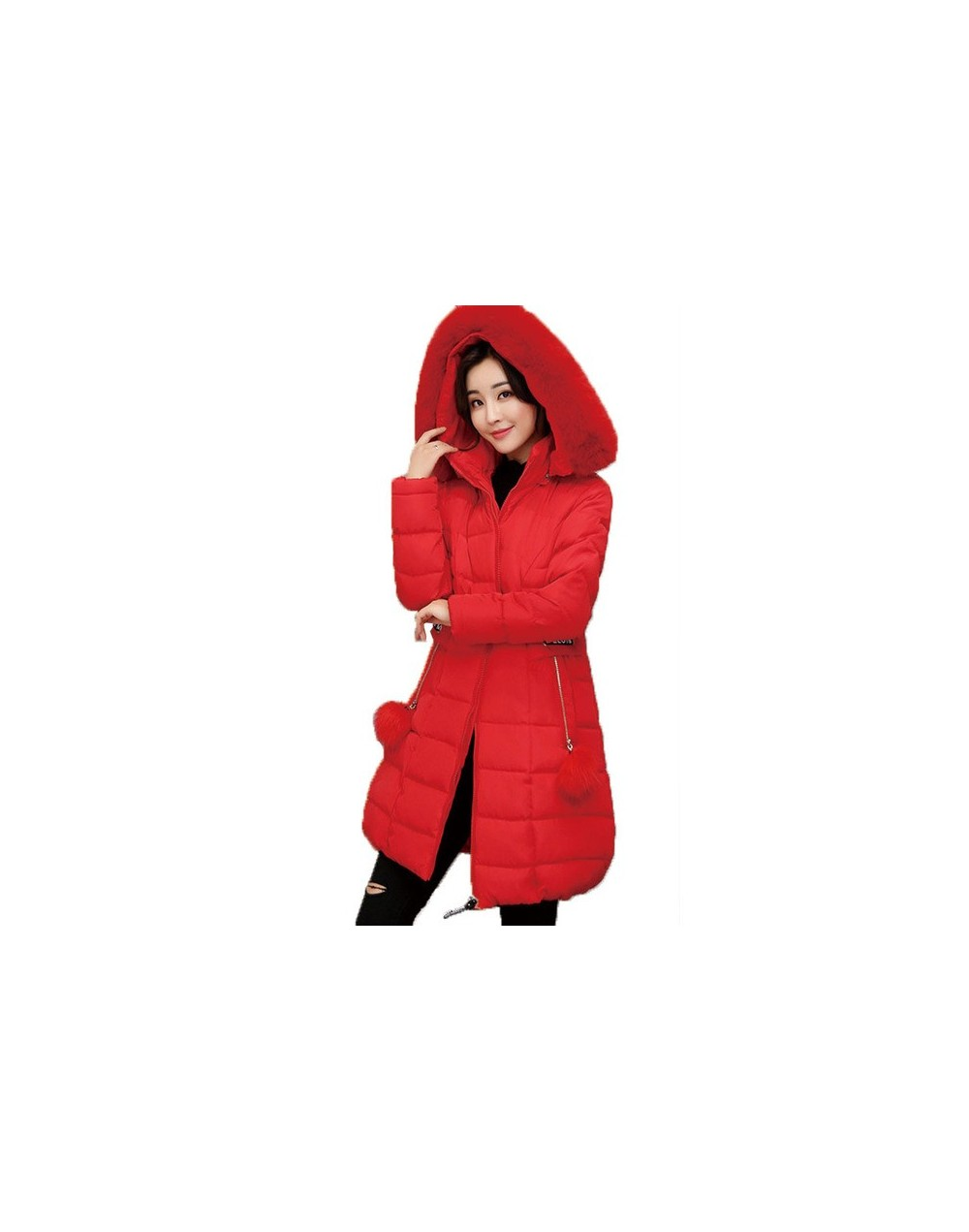 5XL plus size 2019 Thick Winter Women Coats Long Loose Hooded Large Fur Collar Warm Down Cotton Jacket parkas Feather Outwea...
