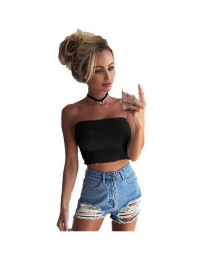 2019 Summer Women Strapless Elastic Boob Bandeau Tube Tops Bra Lingerie Breast Wrap Simple Basic Blusa Mujer crop top women ...