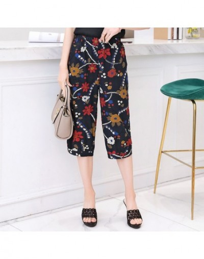 2019 Summer Calf-Length Trousers Women Plus Size Printing Casual Harem Pants Harajuku Elastic waist Pants Plaid Pants Street...