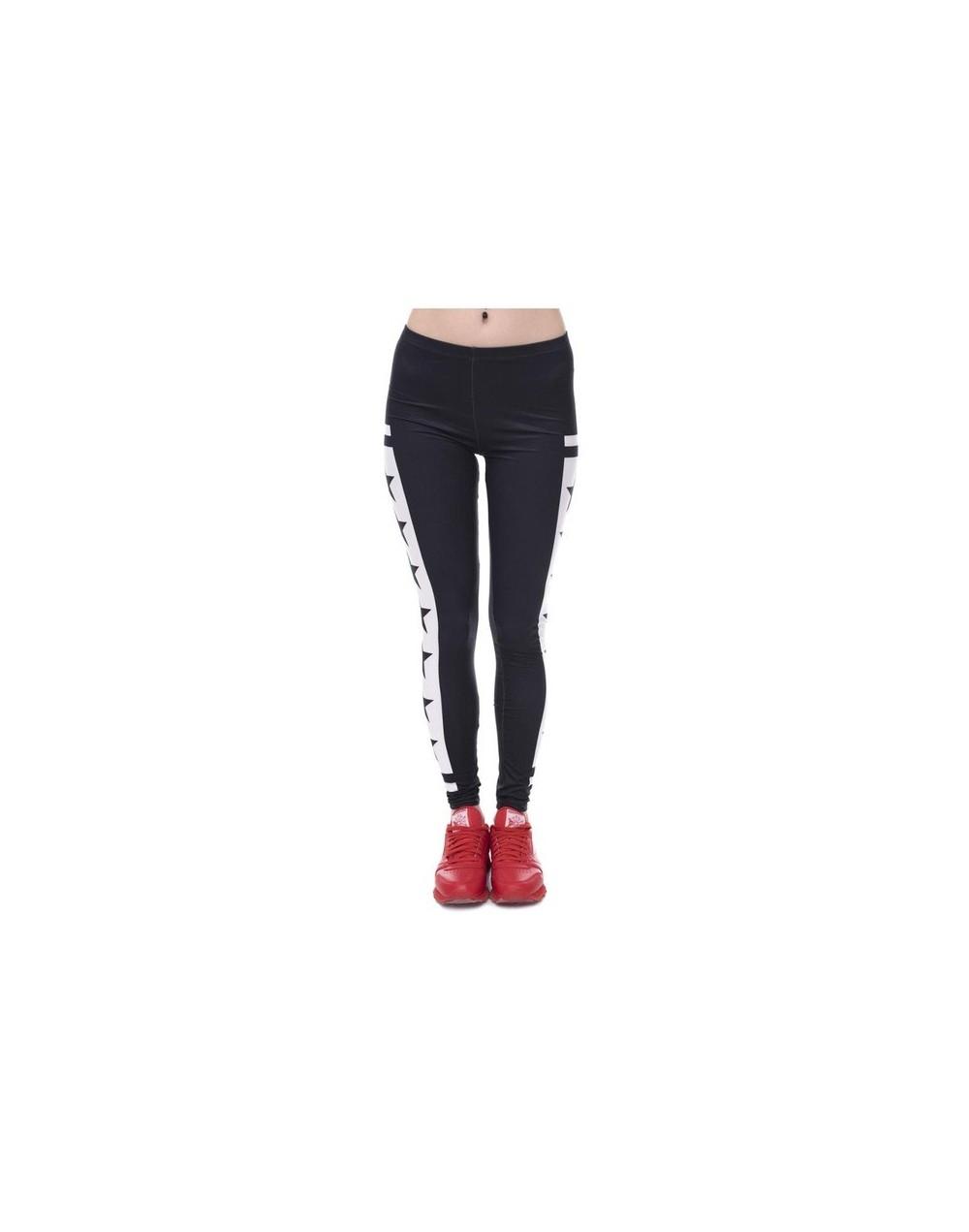 Womens Fashion Elasticity Yes and No Printed Slim Fit Legging Workout Trousers Casual Pants Leggings - lga40544 - 4U38237806...