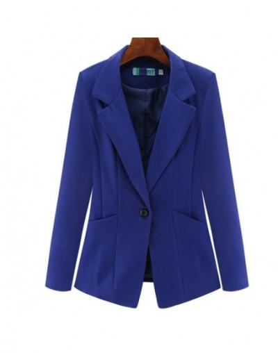 Women's Jacket 2019 Autumn Korean Slim Long Sleeve Double Pocket Small Suit Office Casual Women's Blazer - 2 - 4S4130229040-3