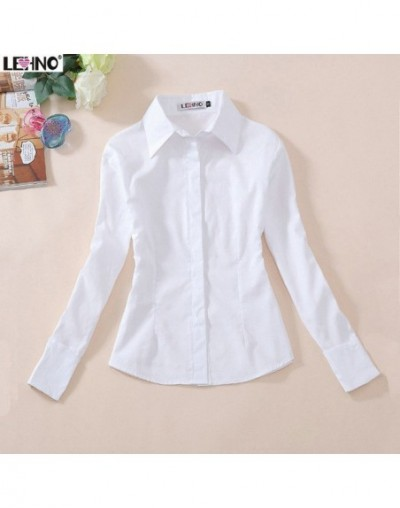 100% cotton full sleeve white blouse high quality students shirts girls/women high school wear preppy style school uniform s...