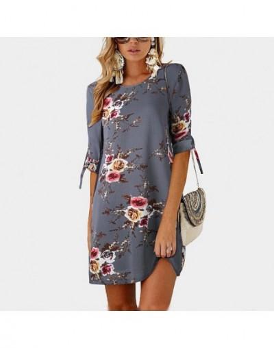 2019 Fashion Casual Summer Women Dress Loose Solid Short Sleeve Chiffon Dress Sexy Party Mini Dresses Robe Vestidos de fiest...
