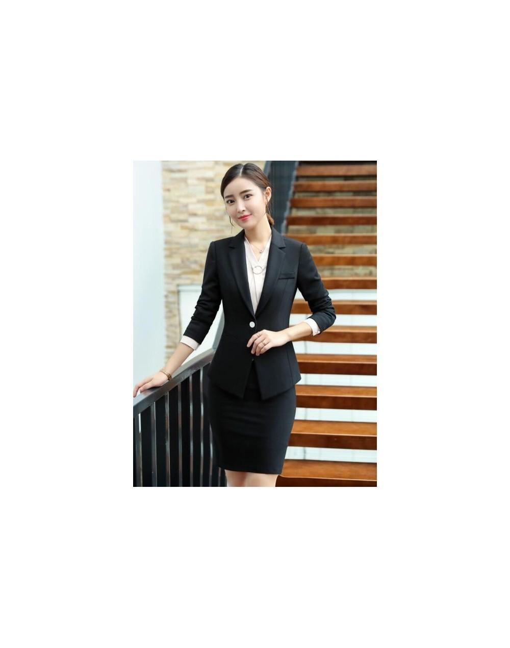 Business Skirt suit women Autumn Winter fashion ladies clothes interview formal blazer and skirt office plus size work unifo...