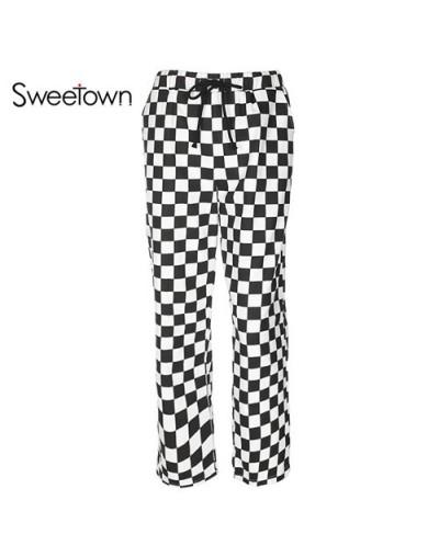 Street Style Checkerboard Pants Women Casual Pantalon Harajuku Femme Streetwear Autumn Winter HighWaist Checkered Pants - as...