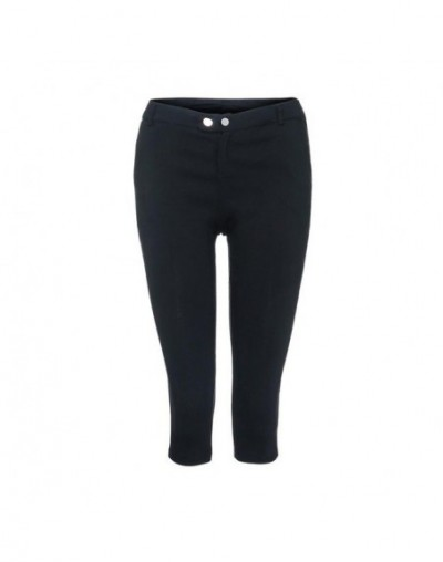 Fashion Women Pencil Pants Fashion Solid Button Women Trousers Plus Size Zipper Casual Cropped Trousers S-5XL 18Aug17 - BK -...