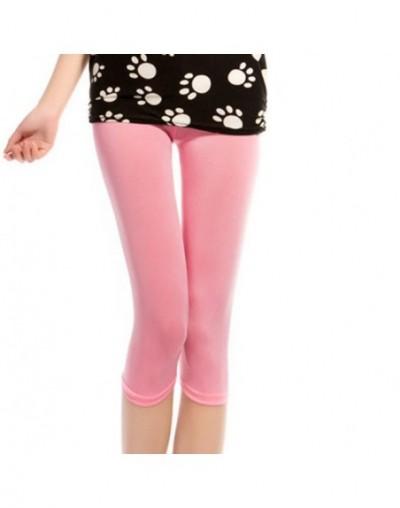 Fashion Render Pants Women's Summer Elastic Thin Candy Color Leggings Seven Pants Pencil Pants For leggings Women - pink - 4...