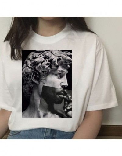 michelangelo david ulzzang harajuku t-shirt tshirt women print t shirt summer aesthetic femaale graphic hands 90s top clothe...