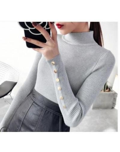 Turtleneck Sweater Women Knitwear 2018 Spring New Korea Slim Sexy Casual Stretch Knit Sweater Female Pullovers Long Sleeve S...