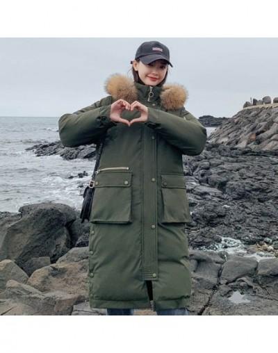winter X-long parkas coat Women Thicken warm big fur collar jacket coats Casual female winter sintepon outwear parkas - Army...