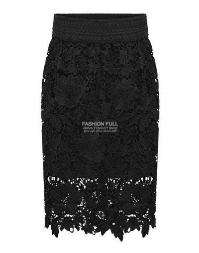 2017 New Spring fashion women skirt package hip Slim was thin skirt womens OL knee length lace embroidery midi skirt women s...
