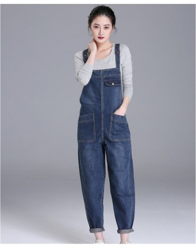 Denim Rompers Women 2019 Spring Summer Plus size 6XL Casual Bib Pants Female Jumpsuits Jeans Trousers Strap can be adjusted ...