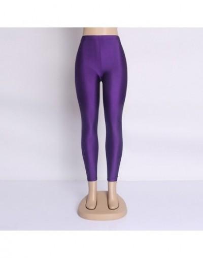 Hot Selling 2019 Plus Size Fluorescent Color Women Leggings Elastic Leggings Multicolor Shiny Glossy Leggings Trousers Women...
