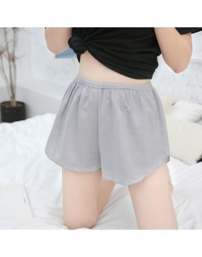 Mid Waist Plus Size Women Shorts Spring Summer Thin Sexy Shorts Female Silk Soft Breathable Nightwear Solid Sleeping Wear - ...