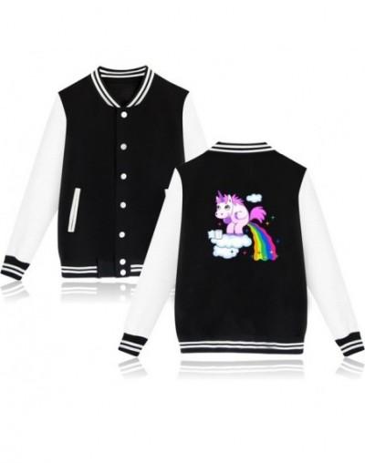 Funny Rainbow Unicorn Jacket Women Men Unicornio Harajuku Tracksuit Pink Sweatshirt Kawaii Hoodies Sudaderas Mujer - Black -...