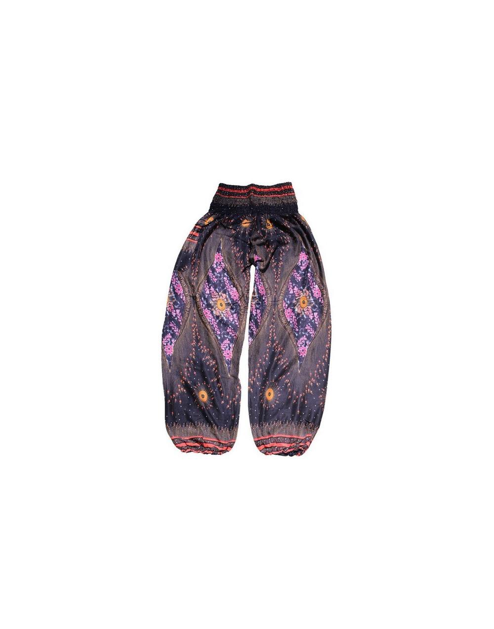 Summer Beach Boho High Waist Harem Pants Women Bloomers Plus Size Print Trousers Women Fashion Workout Pant 3 Colors - Black...