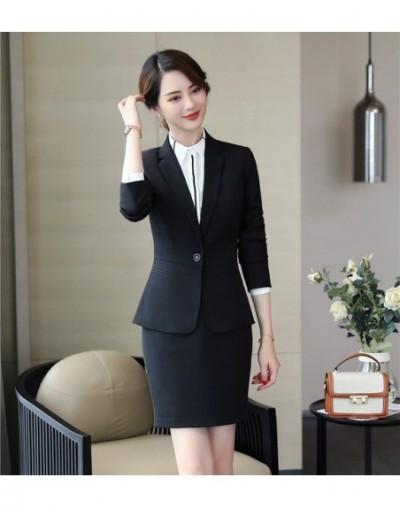 Formal Black Blazer Women Business Skirt Suits Skirt and Jacket Sets Ladies Work Wear Office Uniform Style - Black - 4B30670...