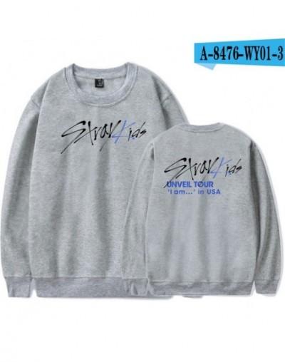 Stray Kids Kpop O-Neck Sweatshirts Women/Men Fashion Long Sleeve Sweatshirt 2019 New Arrival Hot Sale Trendy Streetwear Clot...