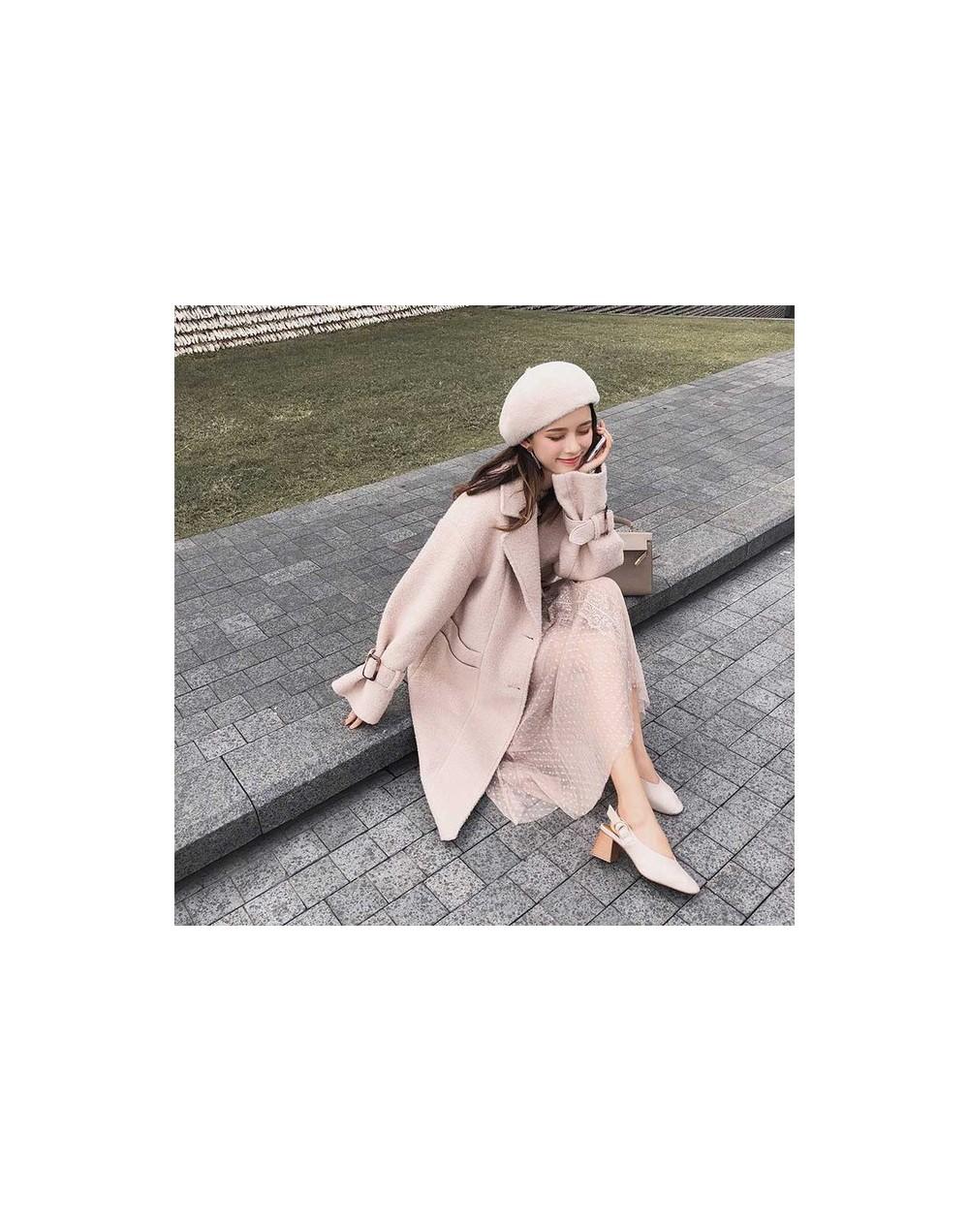 Mishow 2018 Autumn Winter New Coat Women Long Sleeve Jacket Casual Overcoat MX18D9670 - Khaki - 423071896197