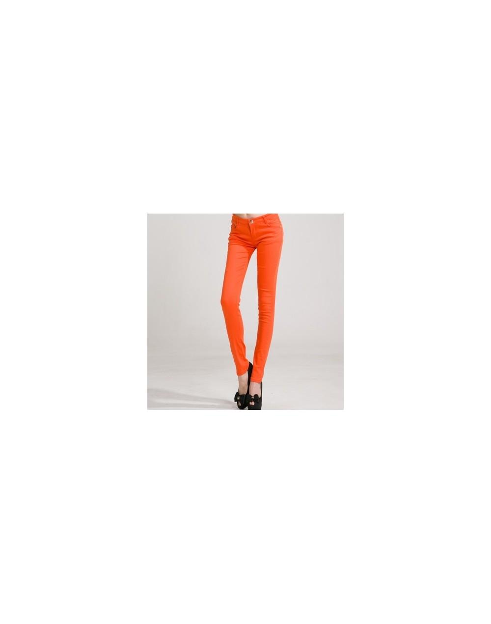 Women's Pants Women Candy Color Pencil Pants Trousers Women Jeans Ladies Elastic Stretch Skinny Pants Plus Size Pantalon Fem...
