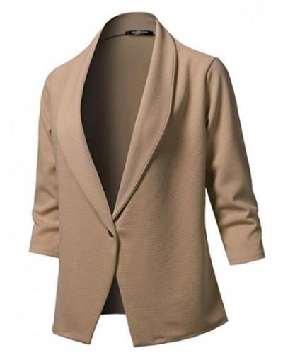 2019 Autumn new long-sleeved solid color lapel small suit jacket women's jacket vadim famale jaket Blazer - Khaki - 53111142...