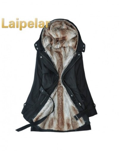 2018 New Parkas Female Women Winter Coat Thickening Cotton Winter Jacket Womens Outwear Parkas for Women Winter - Black - 44...