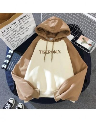 Hoodies Women Lazy Plus Velvet Thicken Letter Printed Womens Pullover Full Sleeve Hooded School Students Ladies Sweatshirts ...