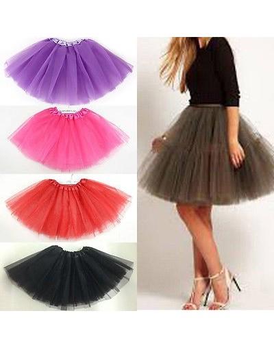 Women/Adult Fancy Dancewear Tutu Pettiskirt Princess Party Skirts Mini Colorful Tutu Lace Sexy Skirts - Gray - 4Q4129478450-5