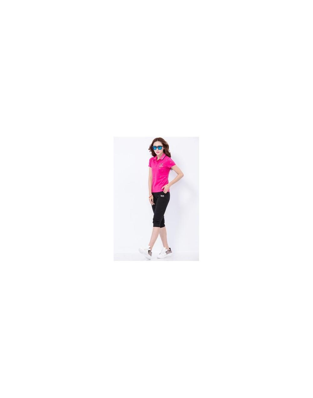 2019 Summer Polos The Woman Casual Short Sleeve Slim Polos Shirts Tops Camisas Mujer Cotton Polos Shirt Hot Sale L0519 - pin...