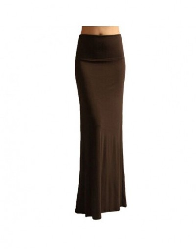 Candy-Colored Skirt Fishtail Skirt Gypsy Long Bodycon Maxi Skirt Womens Fashion - brown - 4X3094277732-4