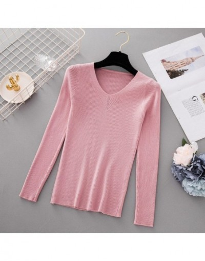 Autumn Pullover Women V Neck Sweater Knitted Jumper Womens Sweaters 2019 Winter Tops For Women Sweaters And Pullovers Trui D...