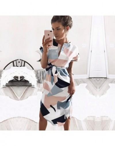 2019 Summer Women Dress Batwing Short Sleeve Striped Beach Dress Tunic Bandage Bodycon Office Pencil Party Dress Vestidos mu...
