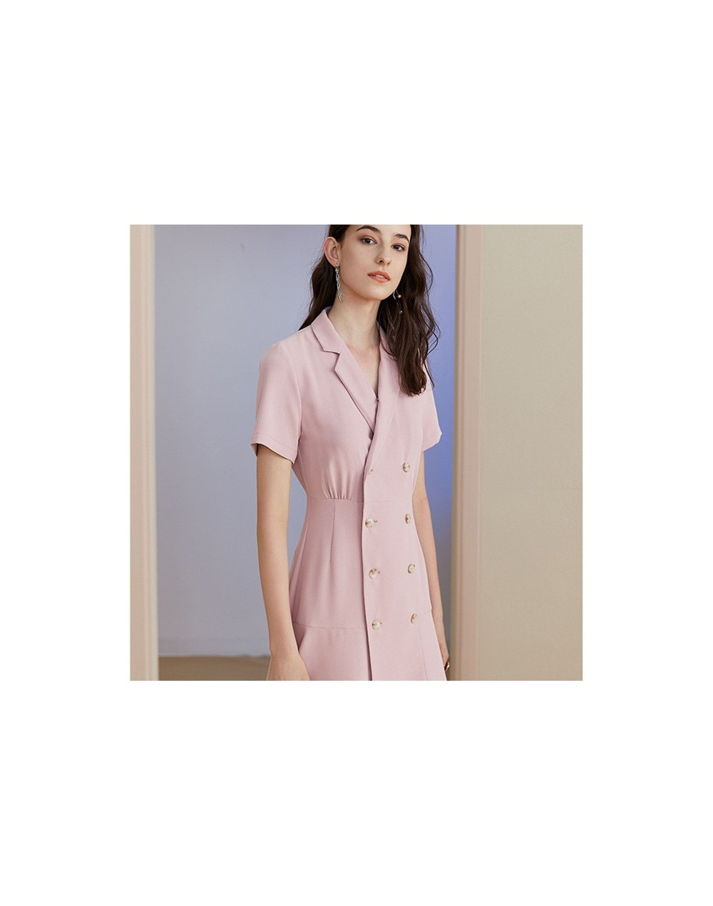 Elegant Women Suit Double Breasted One Piece Dress Suits Office Lady Business Work Blazer Jacket Noched Dress Vestido Robe 2...