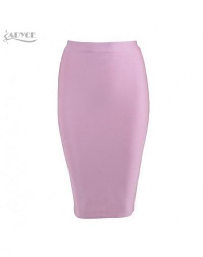 New Women Khaki Bandage Skirts 2019 Sexy Celebrity Party Skirts Knee-length Blue Red White Black Nude White Bodycon Skirt - ...