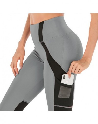 High Waist Fitness Leggings Women Push Up Workout Legging With Pockets Mesh Patchwork Leggins Pants Women Fitness Clothes - ...