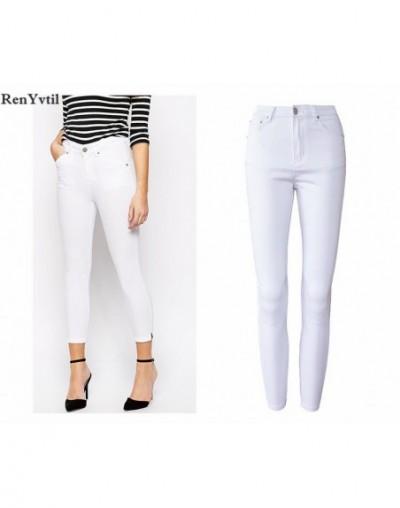 White Jeans Female 2017 Skinny Elastic Jeans For Women Black High Waist Jeans Woman Slim Denim Women Jeans Femme PLUS - Whit...